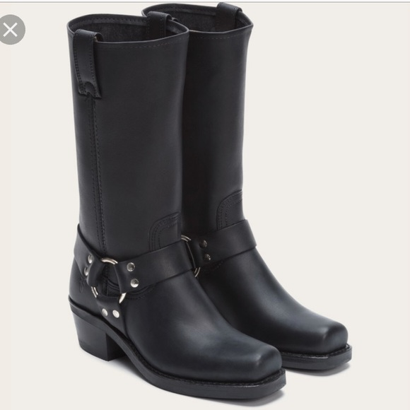 Frye Shoes | Harness Boot Black Size 5 | Poshmark